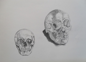 Two heads - sketches