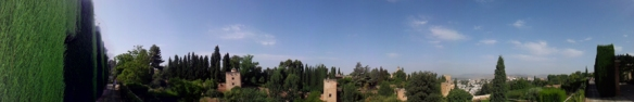 Panorama Alhambra Granada 2 Copyright by Anny Langer