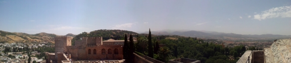 Panorama Alhambra Granada 1 Copyright by Anny Langer