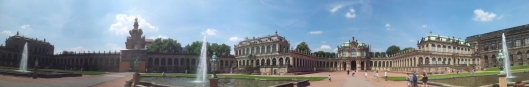 """Zwinger with the gallery of """"The old masters"""". Photo by Anny Langer"""