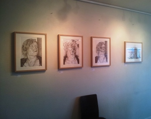"""Copyright by Anny Langer Four drawings from the project """"The price of beauty"""""""