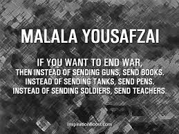 Words by Malala Yousafzai