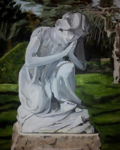 Statue 1 Acryl on canvas, 2013 Copyright by Anny Langer