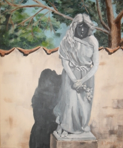 Statue 2 Acryl on canvas, 2013 Copyright by Anny Langer